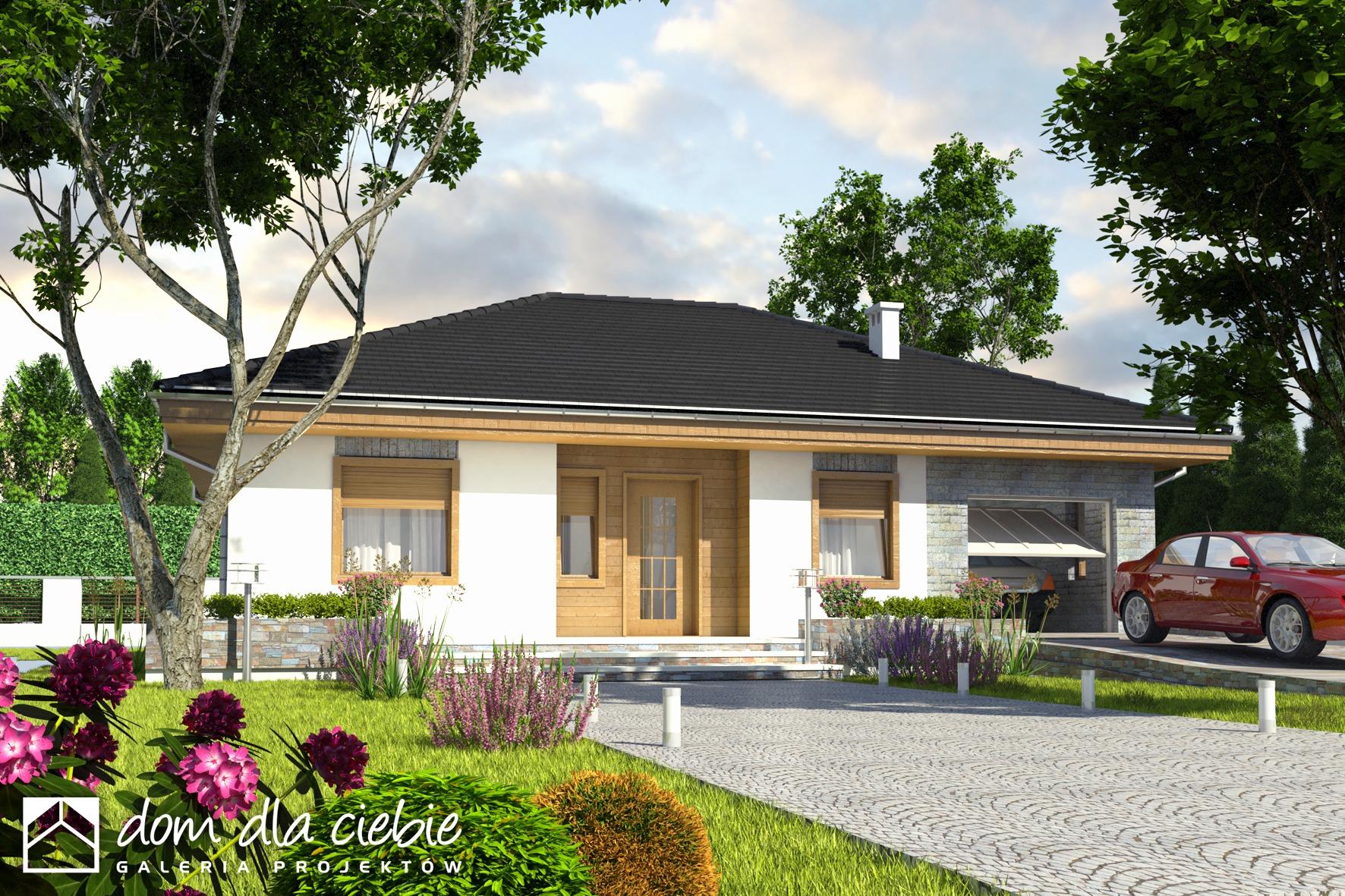 Projekt domu dzierzba wariant a dom dla ciebie for Modelos de casas sencillas