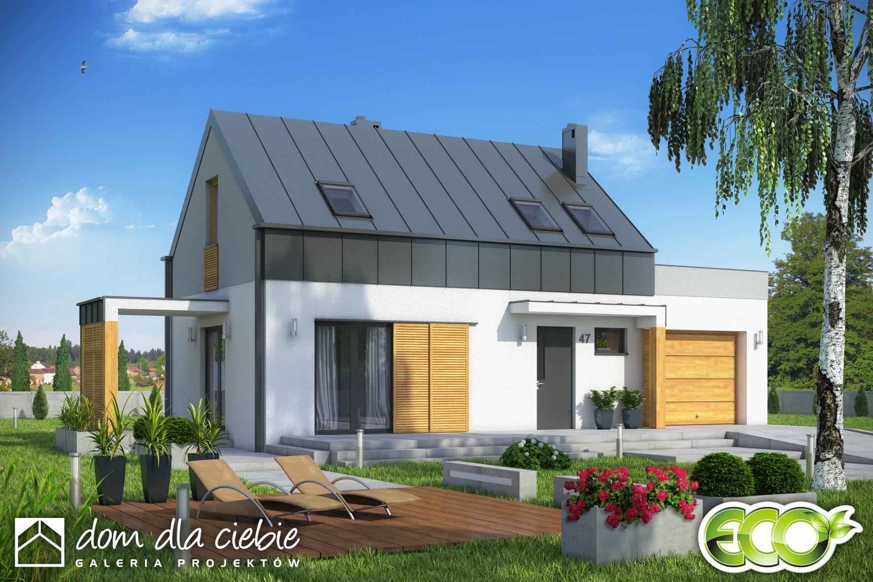 projekt domu eco 3 wariant a dom dla ciebie. Black Bedroom Furniture Sets. Home Design Ideas