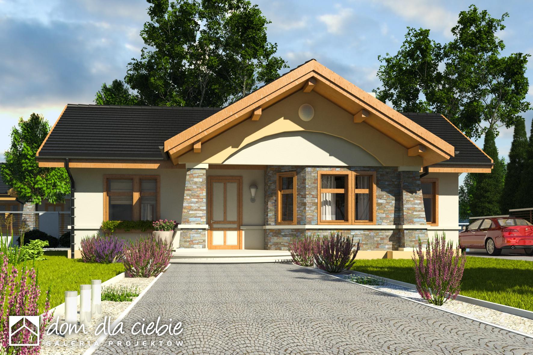 Projekt Domu Skowronek Bez Garażu Wariant B Dom Dla Ciebie