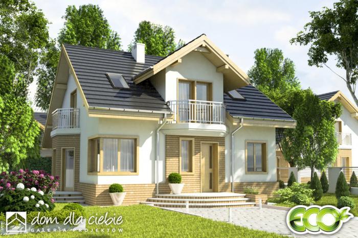 nowy wariant projektu puszczyk b dom dla ciebie. Black Bedroom Furniture Sets. Home Design Ideas