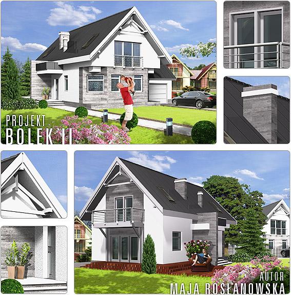 bolek ii nowy projekt domu w naszej ofercie projekty dom w dom dla ciebie. Black Bedroom Furniture Sets. Home Design Ideas
